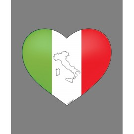 Sticker - Italian heart for car, notebook, tablet or smartphone