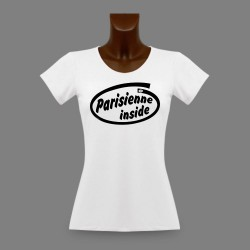 T-Shirt dame slim moulant - Parisienne Inside