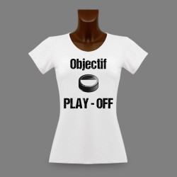 Woman's slim T-Shirt - Fribourg Ice Hockey - Objectif PLAY - OFF
