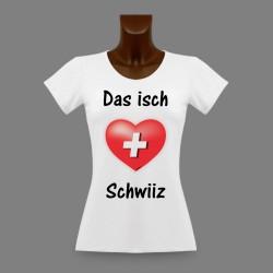 T-Shirt slim moulant pour femme - Das isch Schwiiz