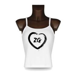 Women's Top débardeur Zougois - Coeur ZG, White
