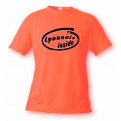 T-Shirt humoristique homme - Lyonnais Inside, Safety Orange