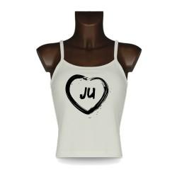 Women's Jura Top - JU Heart, Natural