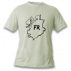 Women's or Men's T-Shirt - Fribourg brush borders, November White