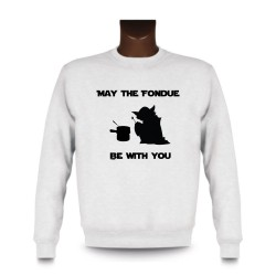 Men's Sweatshirt - May the Fondue be with You, White