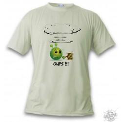 T-Shirt Alien smiley - Oups !!!, November White