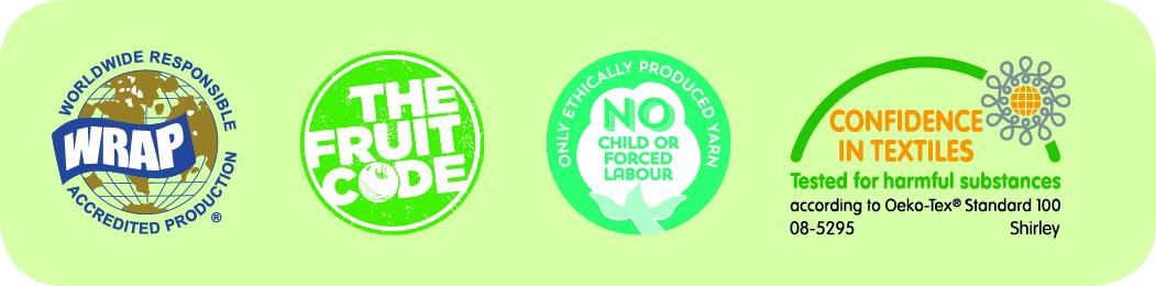 Fruit of the Loom® Fair trade logos