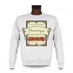 Sweatshirt avec une étiquette de whisky personnalisable pour anniversaires