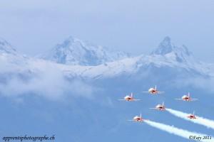 Sion Air Show 2011, survol de l'aérodrome de Sion