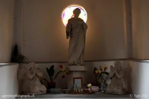 Transgression de la règle des tiers pour l intérieur de la Chapelle St-Joseph de Châbles dans le Canton de Fribourg