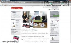 Le magasin en ligne de Gravilux.ch