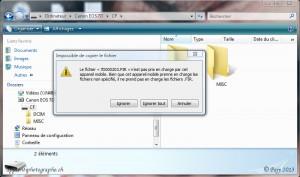Windows Vista empêche le transfert du fichier microprogramme vers votre boitier.