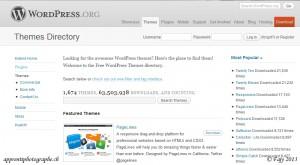 Le répertoire de WordPress.org contenant près de 1674 thèmes téléchargeables