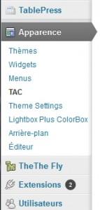 Utilisation du plugin TAC