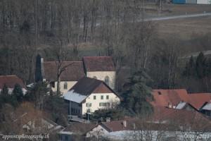 L'église de Curtilles, parfaitement visible avec le Sigma à 500mm