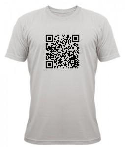 Exemple de T-shirt avec un QR-Code personnalisable