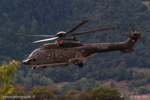 Hélicoptère Super Puma des Forces Aériennes suisse