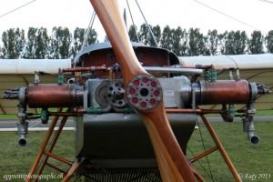 Le moteur de la réplique du Grandjean III qui a demandé près de 18 ans de travail à son propriétaire