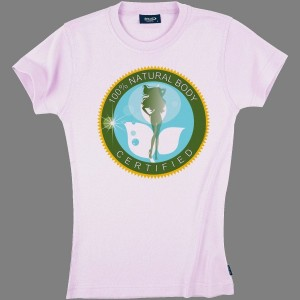 T-Shirt Ladies - Natural Body - 100% cotton