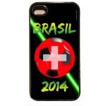 Coque de protection iPhone 4, 4S - Suisse football 2014