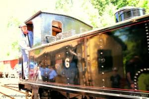 Application de la lomographie avec le jeu de couleurs - Film - sur le chauffeur de locomotive à vapeur