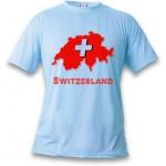 T-shirt Switzerland, pour homme ou femme