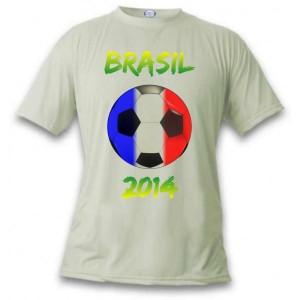 Le T-shirt aux couleurs de la France pour la Coupe du Monde de football au Brésil en 2014