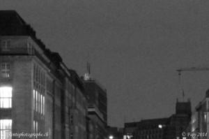 Agrandissement de l'image de l'écluse du Rathaus convertie en niveaux de gris