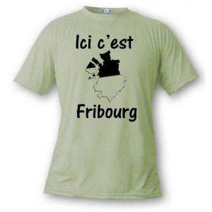 """T-shirt """"Ici c'est Fribourg"""""""