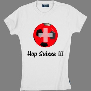 T-shirt Ladies by Whale - Hop Suisse !!!  100% coton