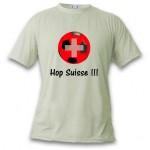 """T-shirt """"Hop Suisse"""", pour homme ou femme"""
