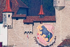 Les armoiries bernoises sur le château de Lucens
