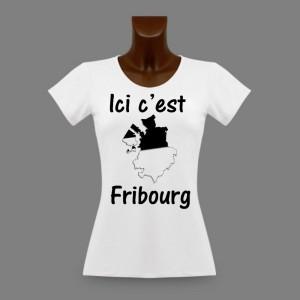 T-shirt slim - Ici c'est Fribourg