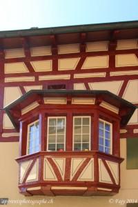 Une façade à colombage typique de Stein am Rhein