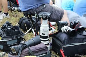 Les spectateurs de AIR14 n'étaient pas en reste avec une débauche de matériel photographique. Qui est celui qui a le plus gros télé-objectif ?