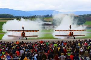 AIR14, une coordination au millimètre tout comme pour la patrouille acrobatique Breitling Wingwalkers