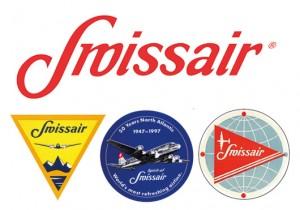 Le logo Swissair durant les années 1940