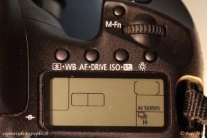 Canon EOS 7D bouton AF-Drive - molette selection Ai Servo