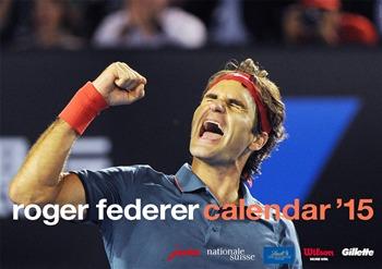 La couverture du calendrier 2015 de Roger Federer. Cliquez directement sur l'image pour le commander chez Soundmedia.ch