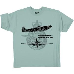 Le T-shirt Supermarine Spitfire rendant hommage à cet appareil de légende.
