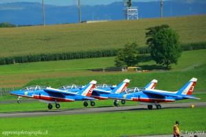 La Patrouille de France au décollage