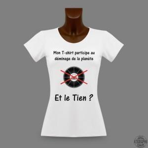 T-shirt pour dame - en faveur du déminage de la planète. Cliquez sur l'image pour voir tous les T-shirts