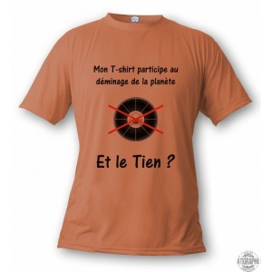 T-shirt participons au déminage de la planète, pour dame ou homme