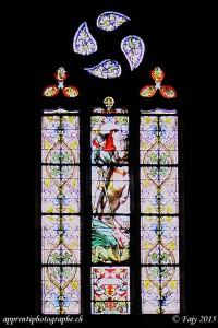 Un vitrail de la Collégiale St-Laurent - Estavayer-le-Lac