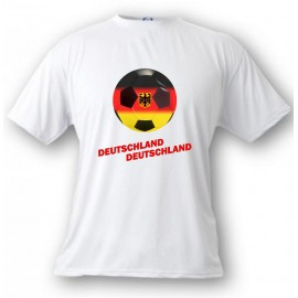 Women's or Men's Soccer T-Shirt - Deutschland Deutschland, White