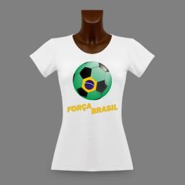 Women's slim T-Shirt - Soccer - Força Brasil