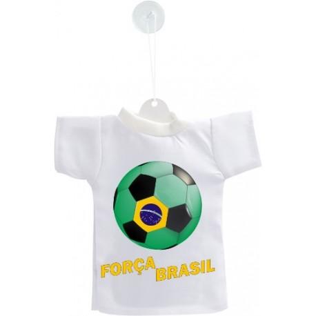 Mini football T-Shirt - Força Brasil - pour voiture