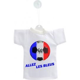 Mini football T-Shirt - Allez les Bleus - pour voiture