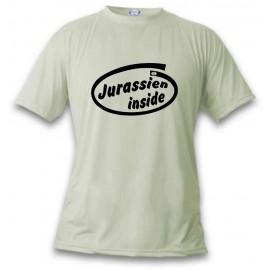 Herren Humoristisch T-Shirt - Jurassien inside, November White