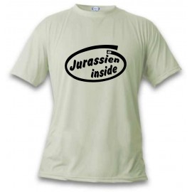 Men's funny T-Shirt - Jurassien inside, November White